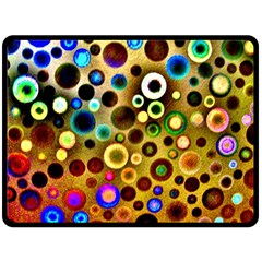 Colourful Circles Pattern Double Sided Fleece Blanket (large)  by Costasonlineshop