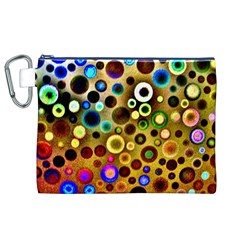 Colourful Circles Pattern Canvas Cosmetic Bag (xl)  by Costasonlineshop