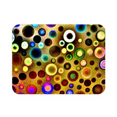 Colourful Circles Pattern Double Sided Flano Blanket (mini)  by Costasonlineshop