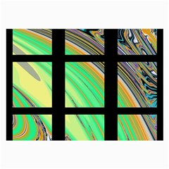 Black Window with Colorful Tiles Large Glasses Cloth by theunrulyartist