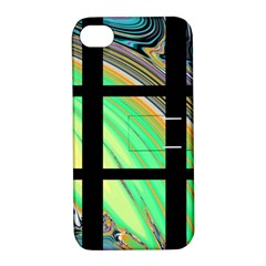 Black Window With Colorful Tiles Apple Iphone 4/4s Hardshell Case With Stand by theunrulyartist