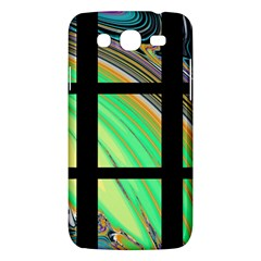 Black Window With Colorful Tiles Samsung Galaxy Mega 5 8 I9152 Hardshell Case  by theunrulyartist