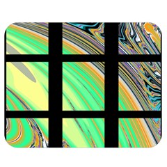 Black Window With Colorful Tiles Double Sided Flano Blanket (medium)  by theunrulyartist