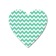 Chevron Pattern Gifts Heart Magnet by creativemom