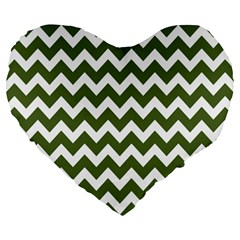 Chevron Pattern Gifts Large 19  Premium Flano Heart Shape Cushions by creativemom