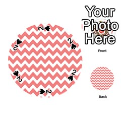 Chevron Pattern Gifts Playing Cards 54 (round)  by creativemom