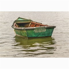 Old Fishing Boat At Santa Lucia River In Montevideo Collage 12  x 18  by dflcprints