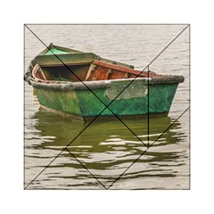 Old Fishing Boat At Santa Lucia River In Montevideo Acrylic Tangram Puzzle (6  X 6 ) by dflcprints