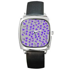 Purple Pattern Square Metal Watches by JDDesigns