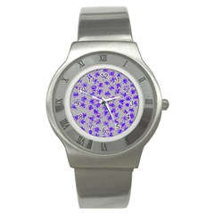 Purple Pattern Stainless Steel Watches by JDDesigns
