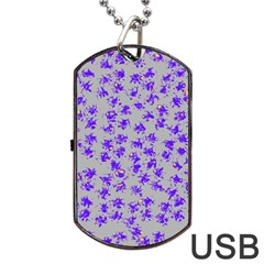 Purple Pattern Dog Tag Usb Flash (two Sides)  by JDDesigns