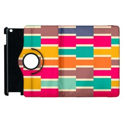 Connected Colorful Rectangles			apple Ipad 3/4 Flip 360 Case by LalyLauraFLM