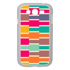 Connected Colorful Rectangles			samsung Galaxy Grand Duos I9082 Case (white) by LalyLauraFLM