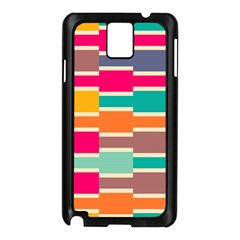 Connected Colorful Rectangles			samsung Galaxy Note 3 N9005 Case (black) by LalyLauraFLM