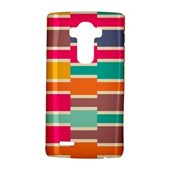 Connected colorful rectanglesLG G4 Hardshell Case by LalyLauraFLM