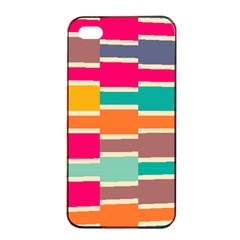 Connected Colorful Rectangles			apple Iphone 4/4s Seamless Case (black) by LalyLauraFLM
