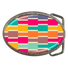 Connected colorful rectangles			Belt Buckle by LalyLauraFLM