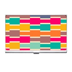 Connected Colorful Rectangles			business Card Holder by LalyLauraFLM