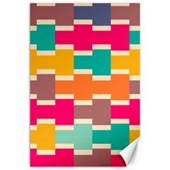 Connected Colorful Rectanglescanvas 24  X 36  by LalyLauraFLM