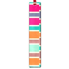 Connected Colorful Rectangles			large Book Mark by LalyLauraFLM