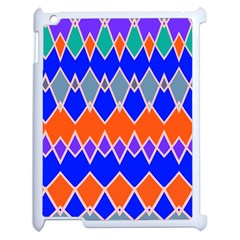 Rhombus Chains			apple Ipad 2 Case (white) by LalyLauraFLM