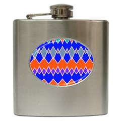 Rhombus Chains			hip Flask (6 Oz) by LalyLauraFLM