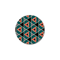 Triangles In Retro Colors Patterngolf Ball Marker by LalyLauraFLM