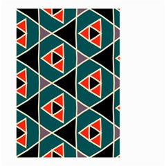 Triangles In Retro Colors Pattern Small Garden Flag by LalyLauraFLM