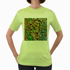 Abstract Background Wallpaper 1 Women s Green T Shirt by Costasonlineshop