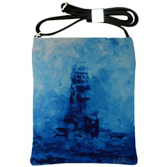 Lost At Sea Shoulder Sling Bags by timelessartoncanvas