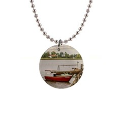 Santa Lucia River In Montevideo Uruguay Button Necklaces by dflcprints