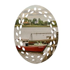 Santa Lucia River In Montevideo Uruguay Oval Filigree Ornament (2 Side)  by dflcprints