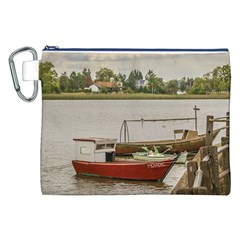 Santa Lucia River In Montevideo Uruguay Canvas Cosmetic Bag (xxl)  by dflcprints