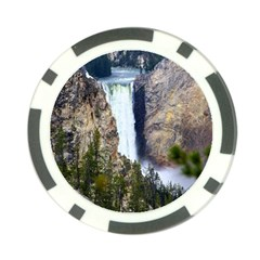 Yellowstone Waterfall Poker Chip Card Guards (10 Pack)  by trendistuff