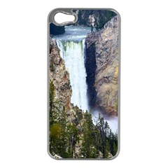 Yellowstone Waterfall Apple Iphone 5 Case (silver) by trendistuff