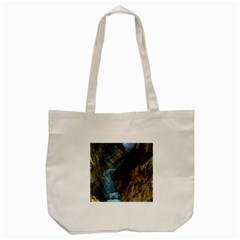 Yellowstone Lower Falls Tote Bag (cream)  by trendistuff
