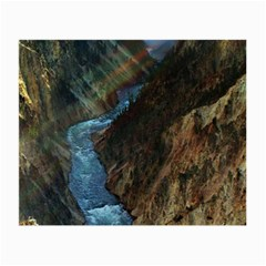 Yellowstone Lower Falls Small Glasses Cloth by trendistuff