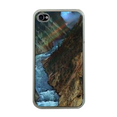Yellowstone Lower Falls Apple Iphone 4 Case (clear) by trendistuff