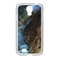Yellowstone Lower Falls Samsung Galaxy S4 I9500/ I9505 Case (white) by trendistuff
