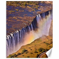 WATERFALL AFRICA ZAMBIA Canvas 16  x 20   by trendistuff