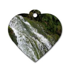 Water Overflow Dog Tag Heart (two Sides) by trendistuff