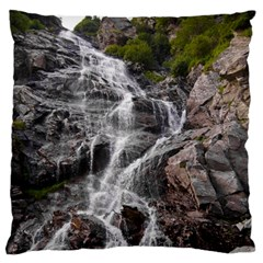 MOUNTAIN WATERFALL Standard Flano Cushion Cases (One Side)  by trendistuff