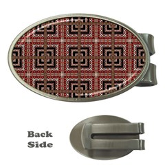 Check Ornate Pattern Money Clips (oval)  by dflcprints