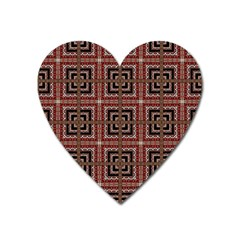 Check Ornate Pattern Heart Magnet by dflcprints