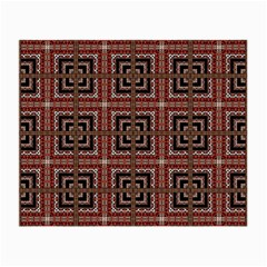 Check Ornate Pattern Small Glasses Cloth by dflcprints