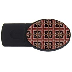 Check Ornate Pattern Usb Flash Drive Oval (4 Gb)  by dflcprints