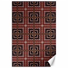 Check Ornate Pattern Canvas 24  X 36  by dflcprints
