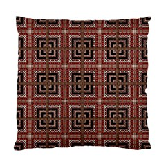 Check Ornate Pattern Standard Cushion Case (one Side)  by dflcprints