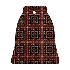 Check Ornate Pattern Ornament (bell)  by dflcprints