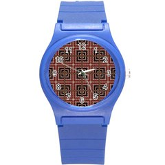 Check Ornate Pattern Round Plastic Sport Watch (s) by dflcprints